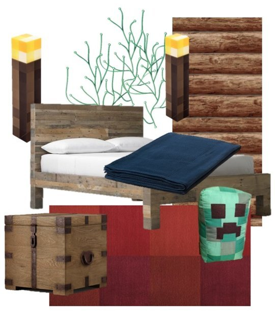 Vision for A Minecraft Themed Bedroom Apartment Therapy 540x610