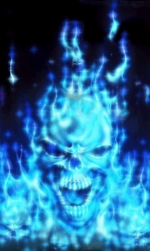 blue flames skull flame - photo #29