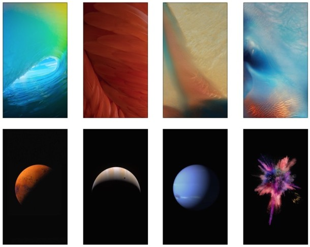 Get the 15 New Default iOS 9 Wallpapers for iPhone 610x486