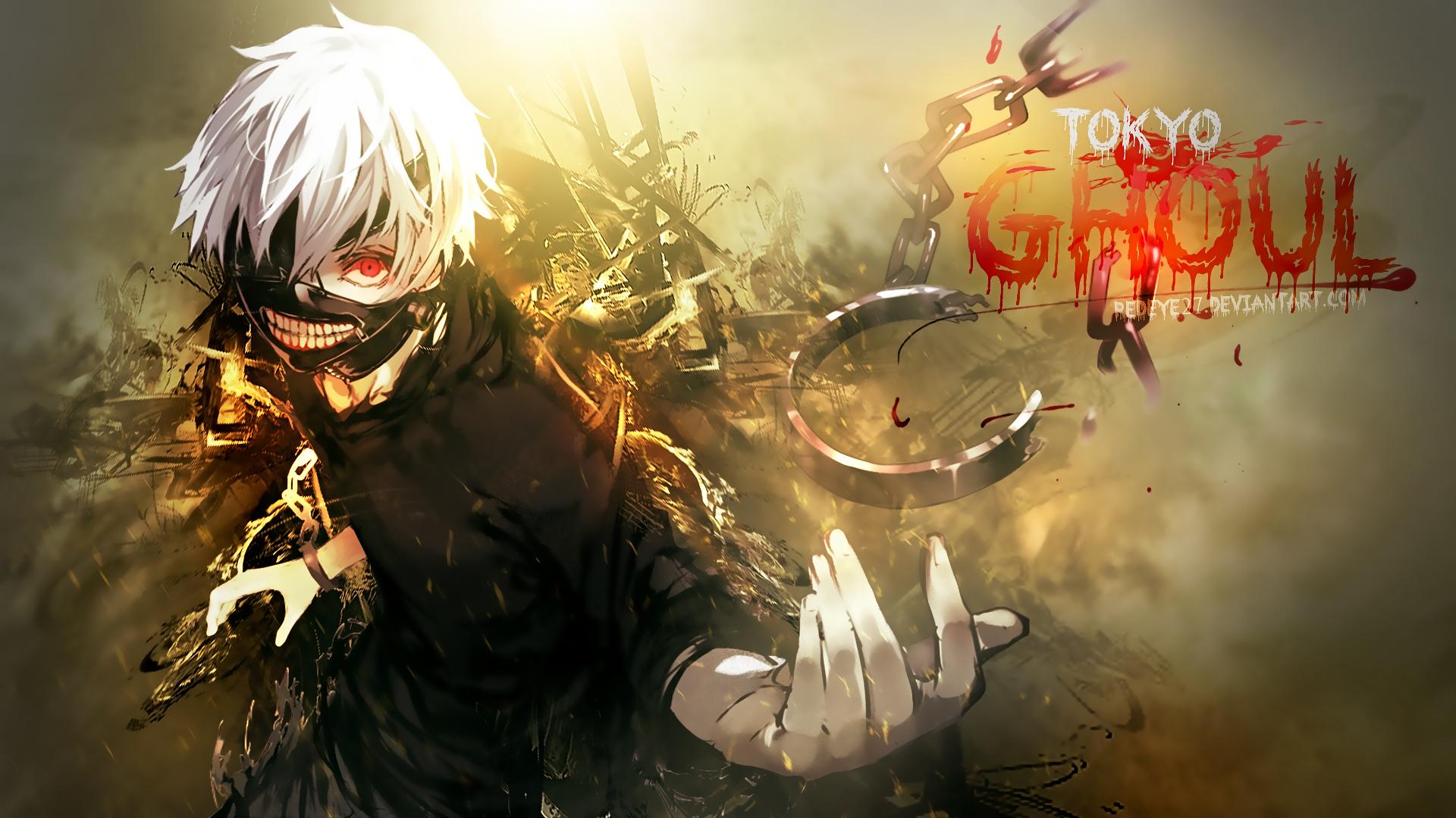 Kaneki Tokyo Ghoul anime red eye mask hd 1920x1080 1080p wallpaper 1920x1080