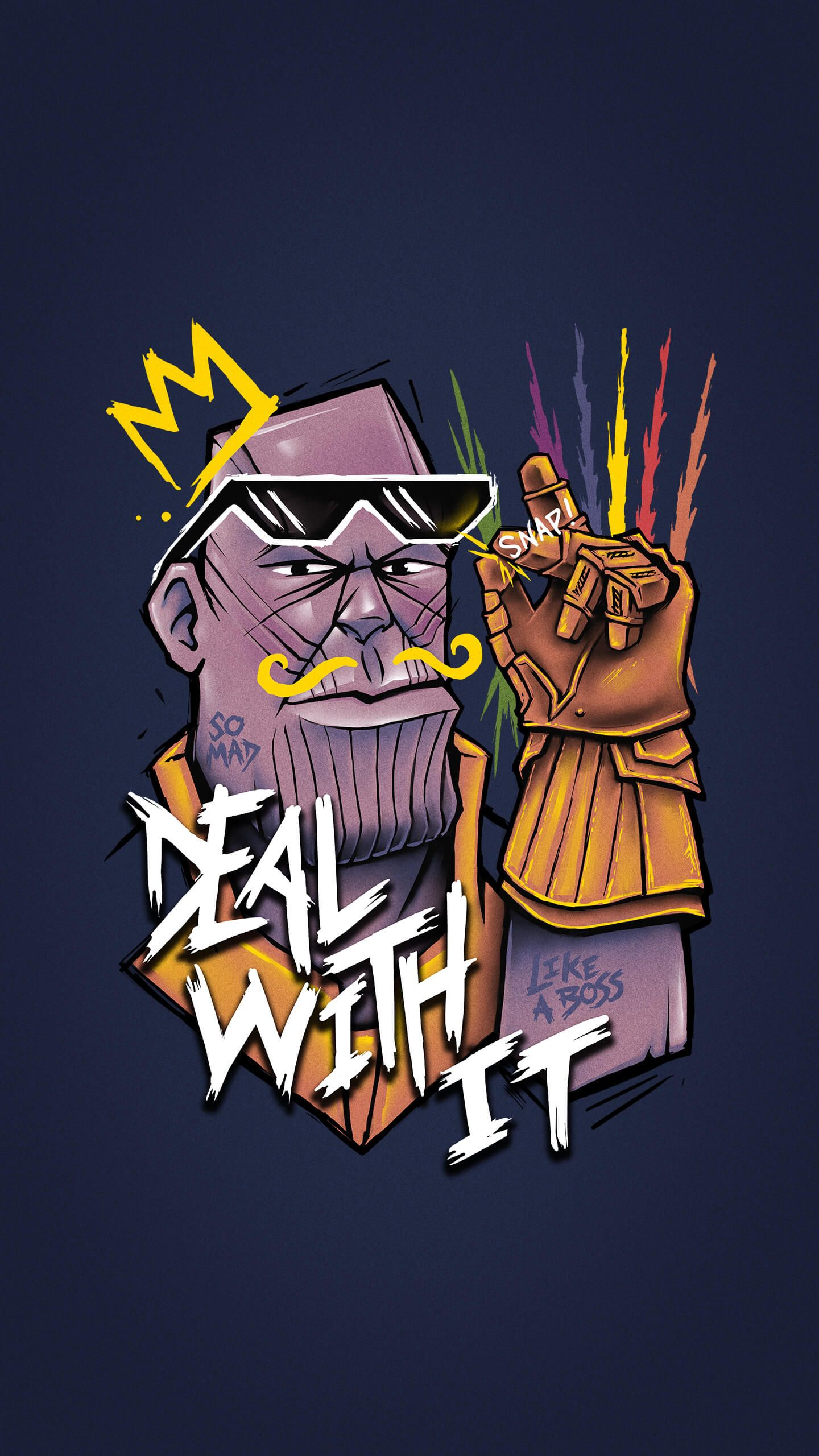 Thanos Finger Snap iPhone Wallpaper Phone wallpaper Marvel 1440x2560