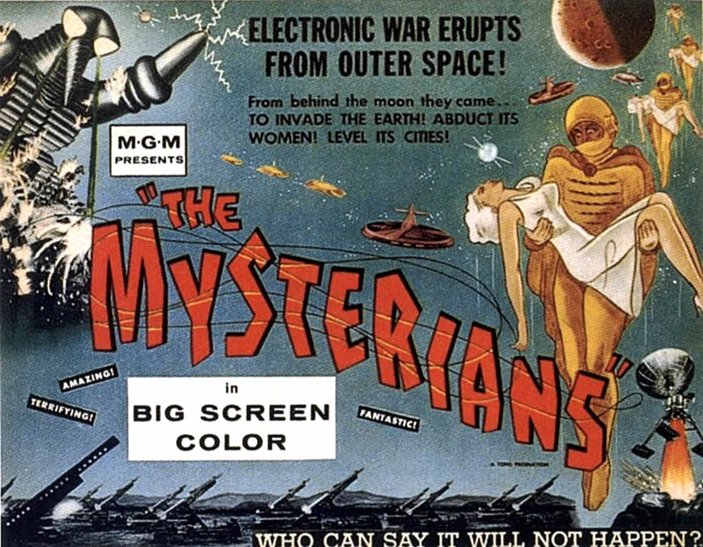 THE MYSTERIANS   Alien Invasion B Movie Posters 1389x1080