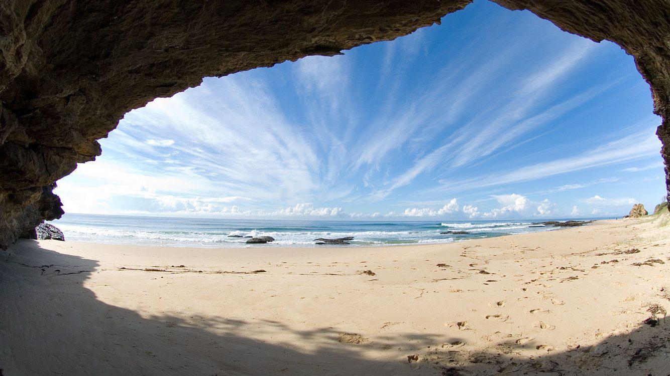 Hdwallpapers87com   Download Cave on the beach Desktop Wallpaper 1334x750