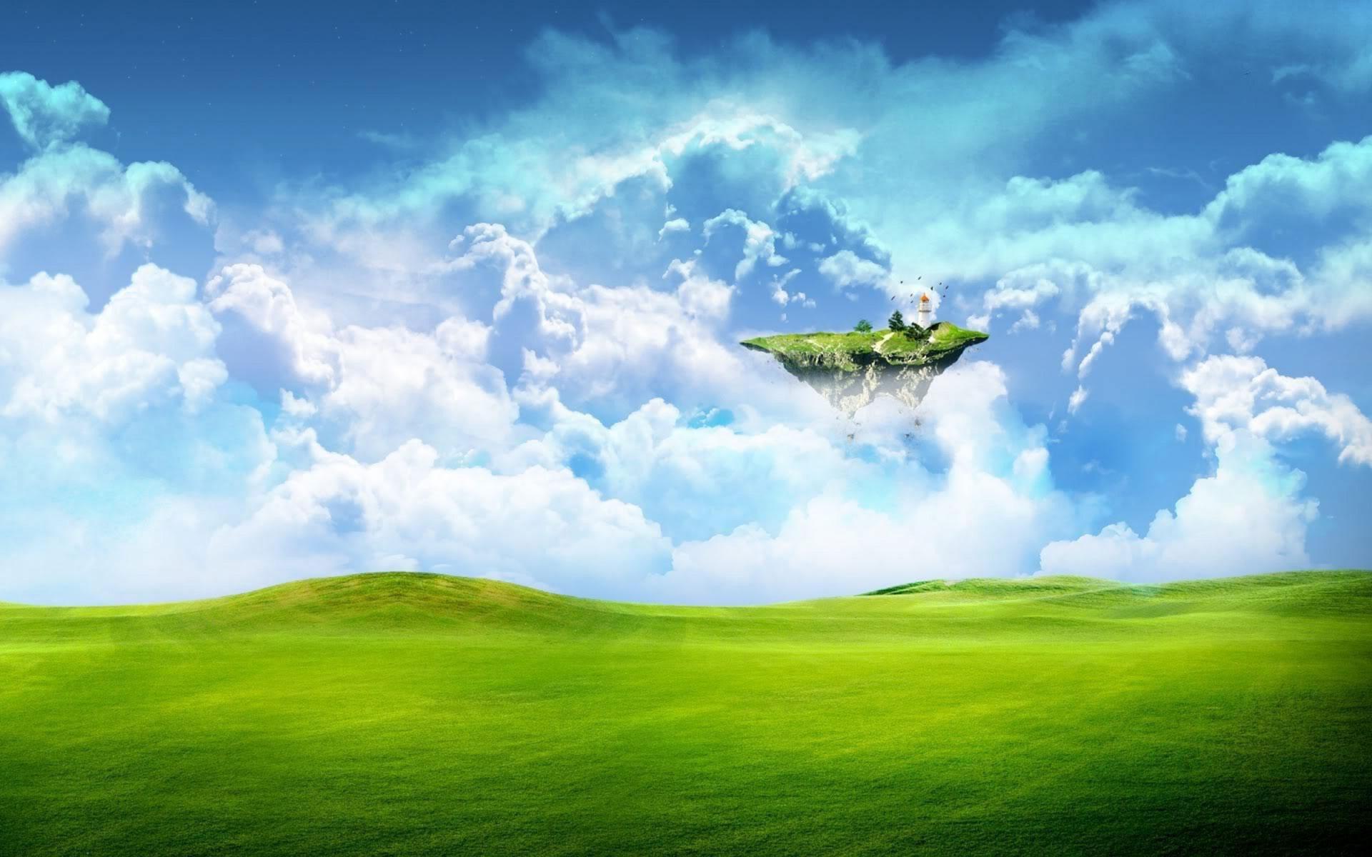 The grassland landscape design wallpaper Desktop Background   Scenery ...
