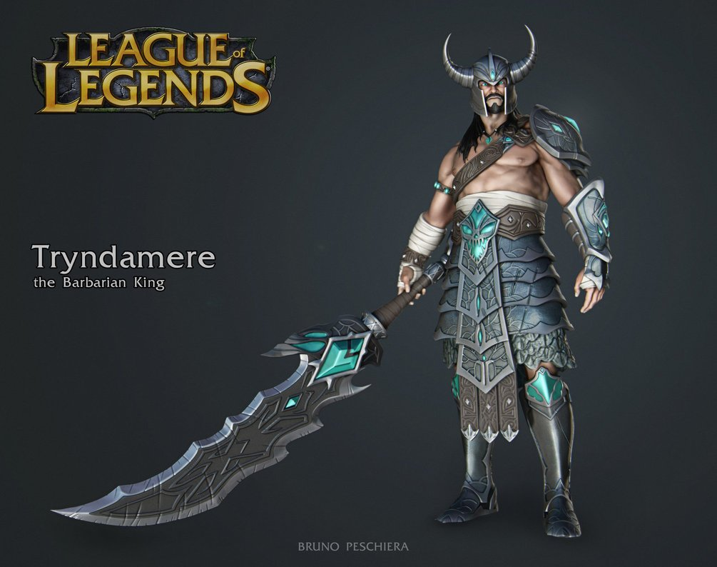 Tryndamere the Barbarian King   Small by Peschiera 1005x794