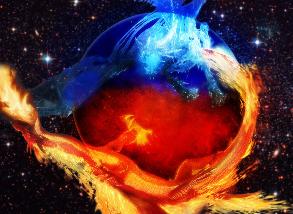 wallpaper Astonishing Fire And Ice Wallpapers 960x701