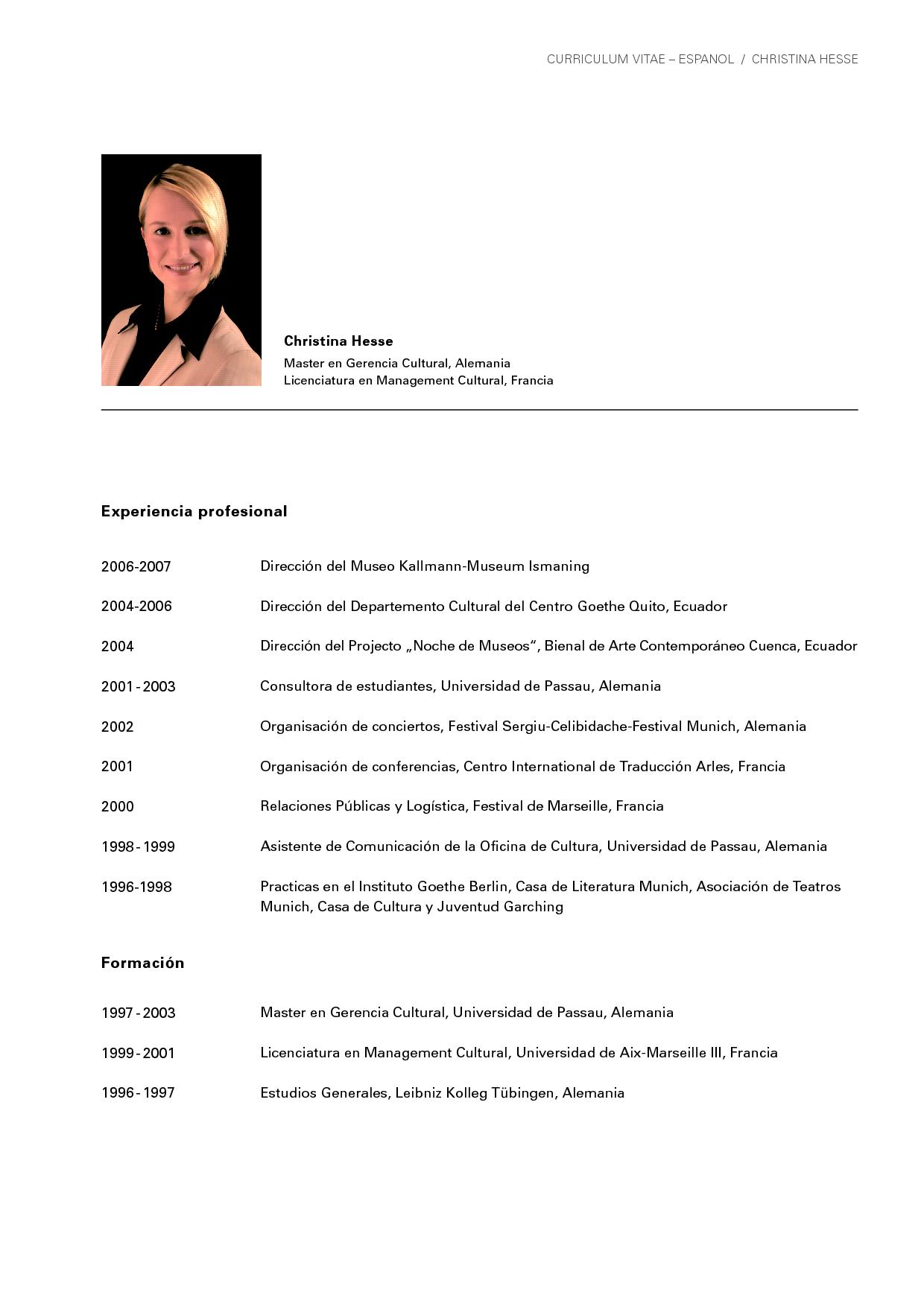 De Curriculum Vitae En Espanol HD Wallpaper httpeasypixlink