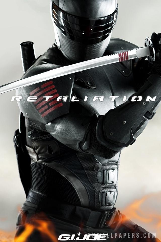 GI Joe 2 Retaliation Snake Eyes Wallpaper 640x960