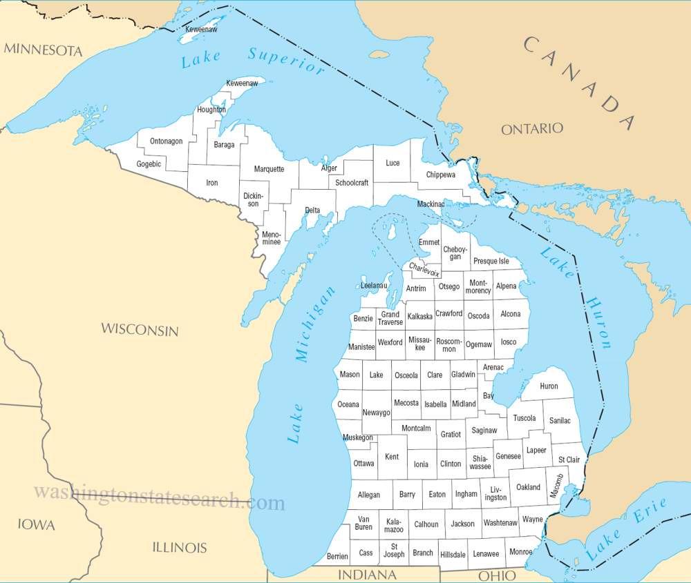 Best Michigan County Map HD Photo Galeries Best WallPaper 1000x845