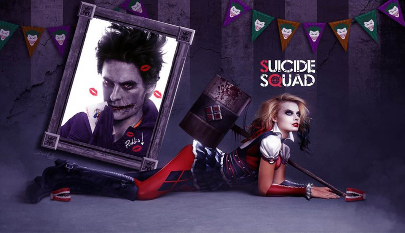Download Suicide Squad Characters Harley Quinn Joker Wallpaper Wide 1366x786