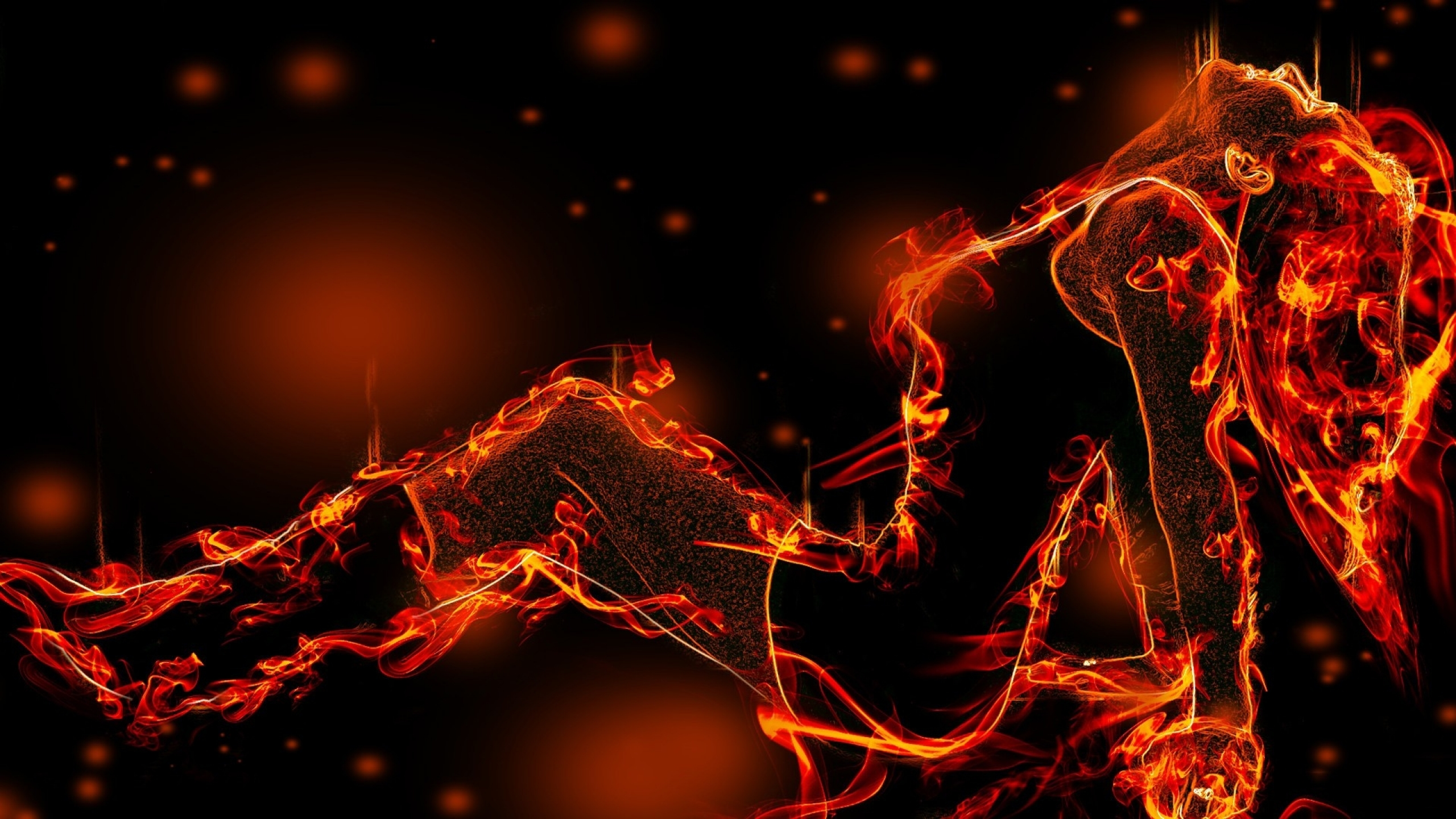 red fire rings fantasy art on fire black clothes 1920x1080 wallpaper 2560x1440