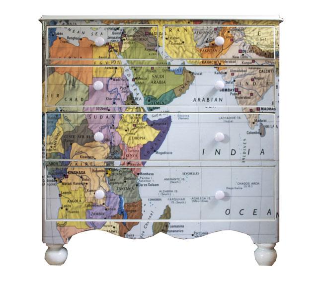 Decoupage Map Wallpaper Dressers Kids Map Decor 650x566