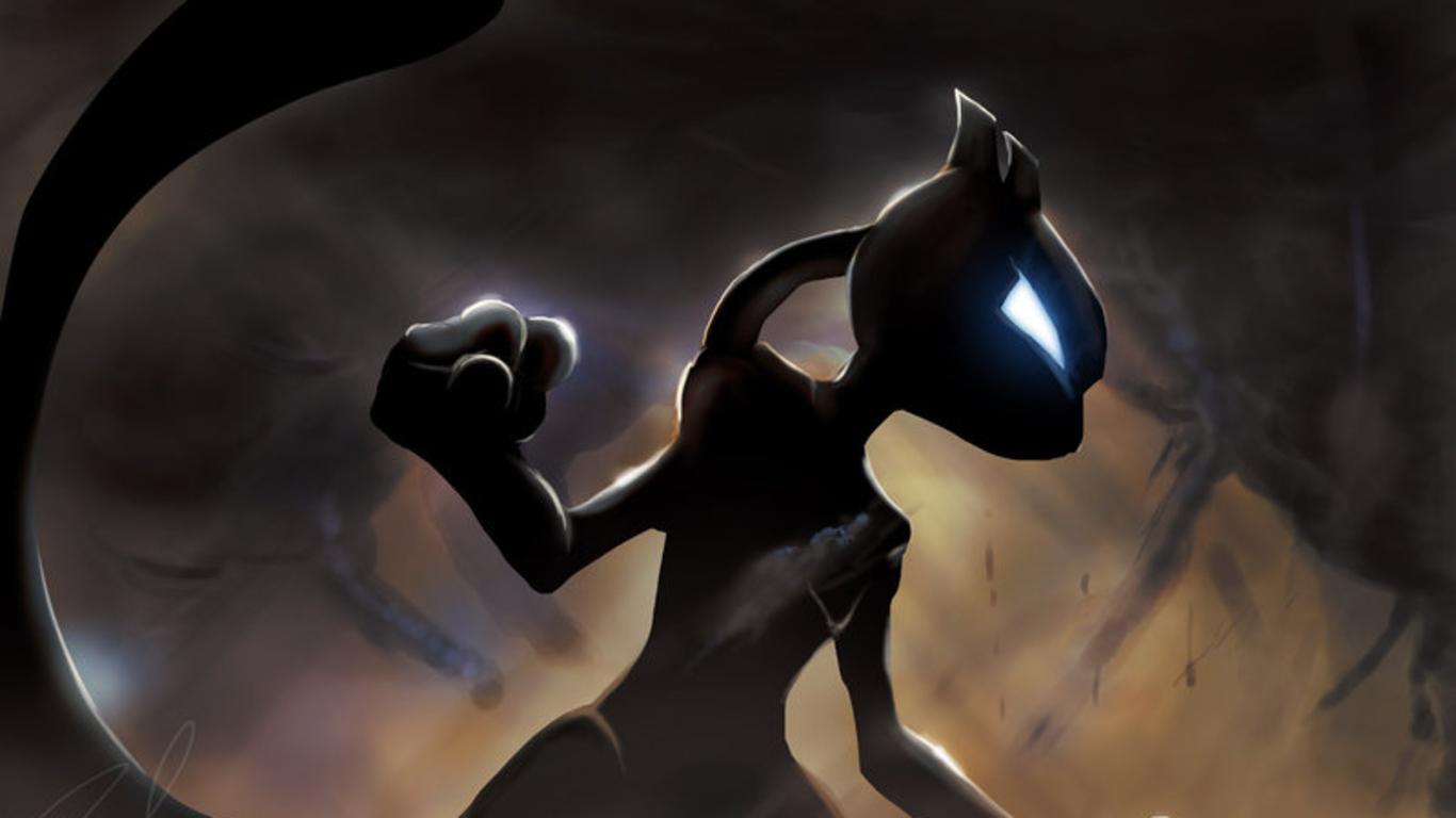 My current Mewtwo wallpaper edited it a bit myself pokemon 1366x768