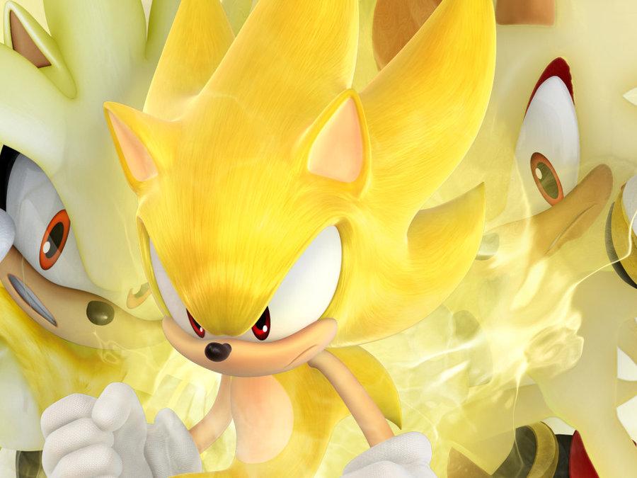 Super Sonic, Super Shadow and Super Silver - Sonic ... |Super Sonic And Super Shadow And Super Silver Wallpaper