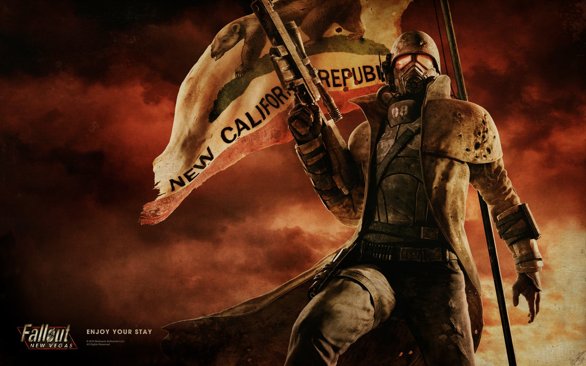 Wallpapers Backgrounds   california republic flag concept nuclear 1920x1200