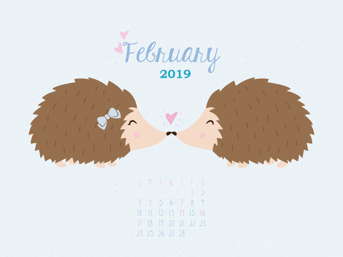 Feb 2019 Calendar HD Wallpaper February2019 1400x1050