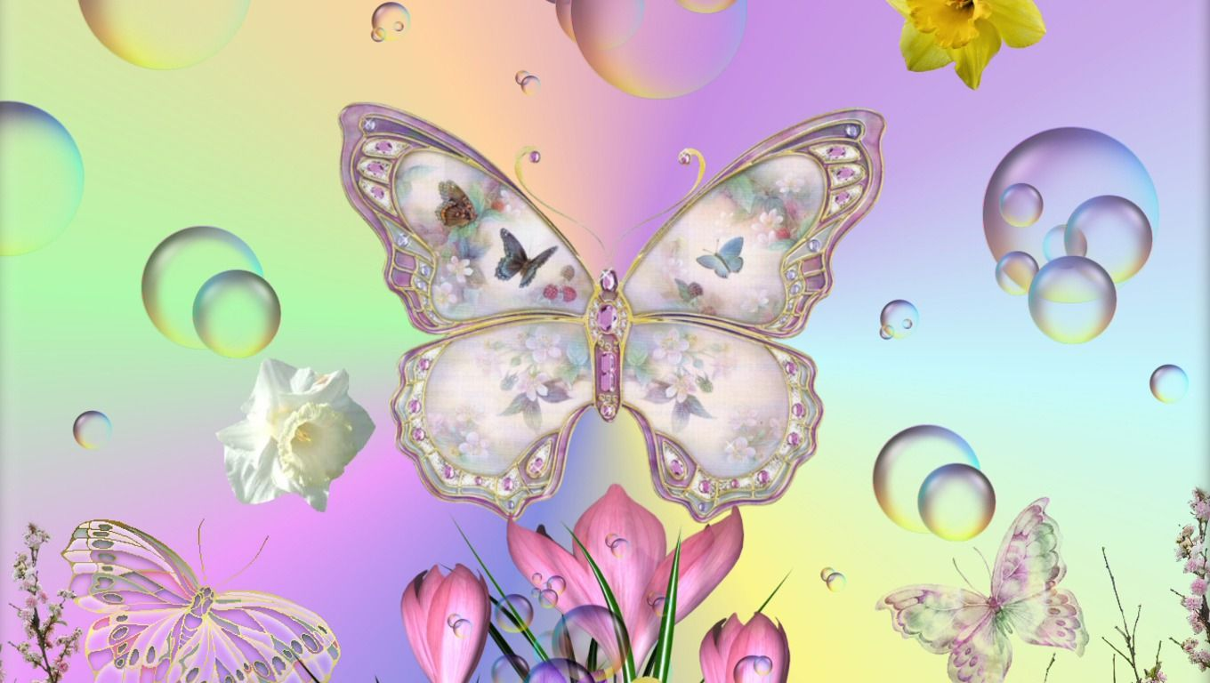 Spring HD Wallpapers wallpapers I like Butterfly photos 1360x768