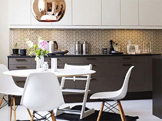 save some cashola wallpaper your kitchen backsplash rather than tile 520x389