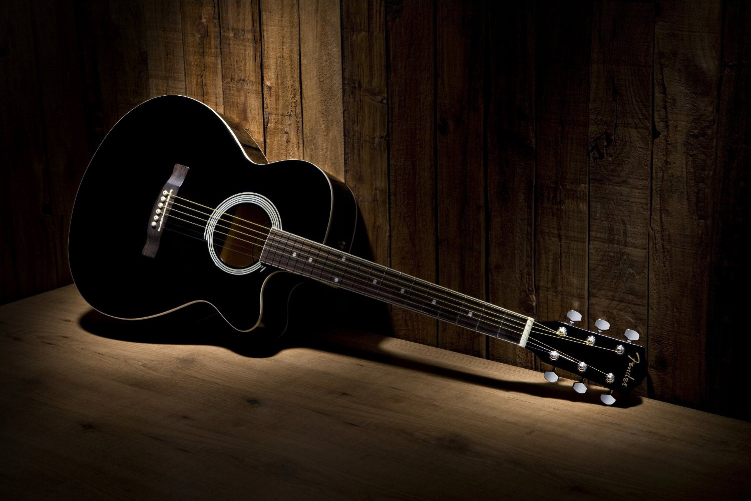 Guitar Wallpaper   Black and White Fender FA 130 Acoustic 1500x1000
