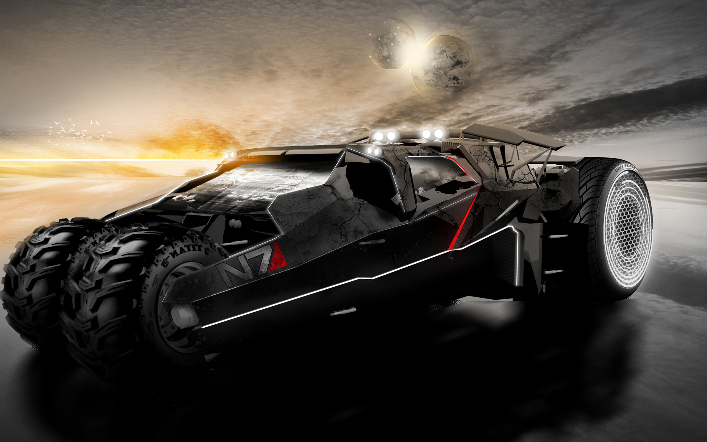 Mass Effect N7 Car Wallpapers HD Wallpapers 2400x1500
