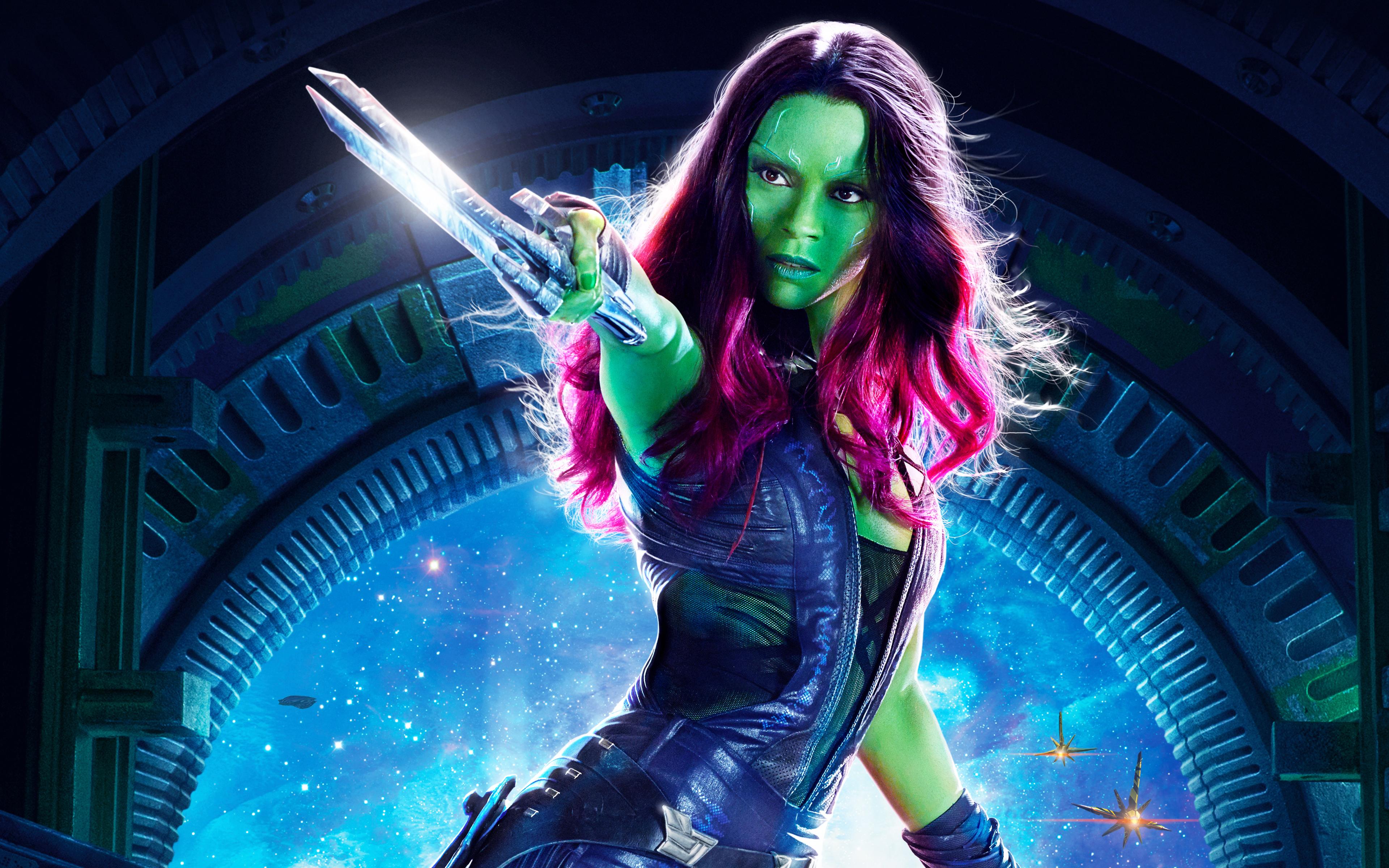 Gamora Guardians of the Galaxy Vol 2 Wallpaper Full HD 3840x2400