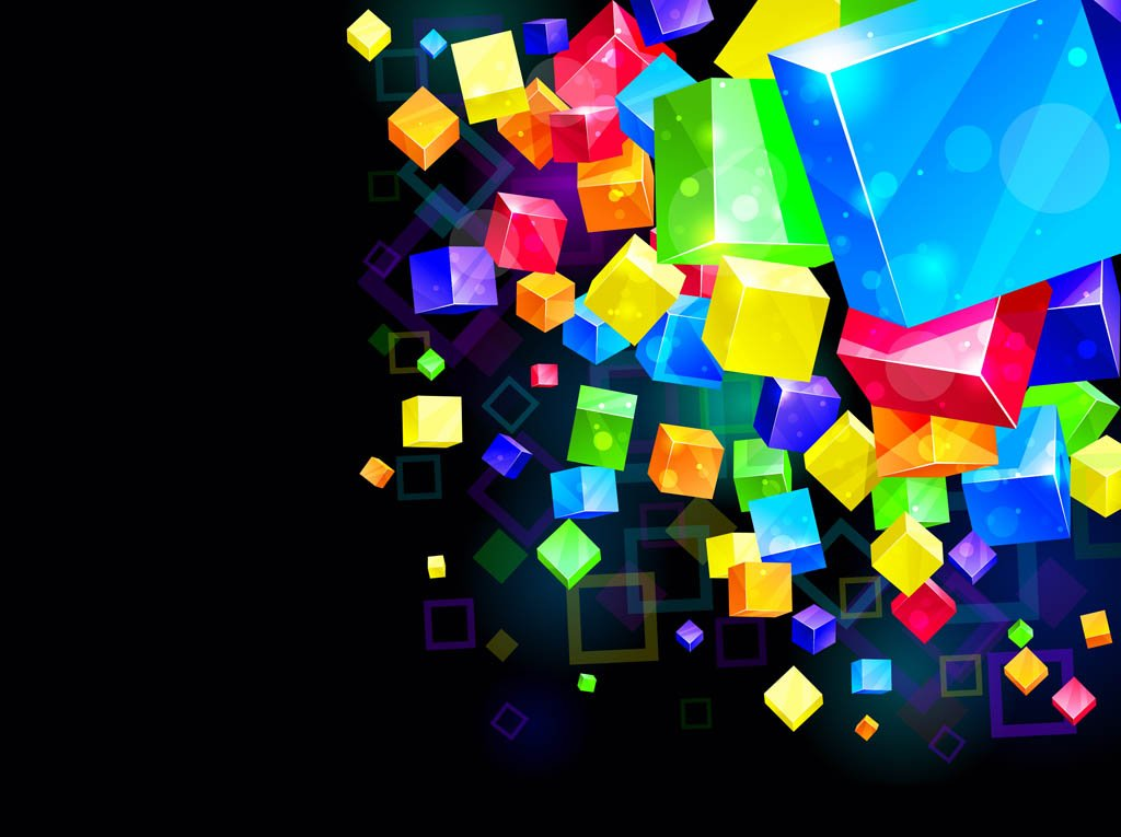 Colorful Cubes Background 1024x765