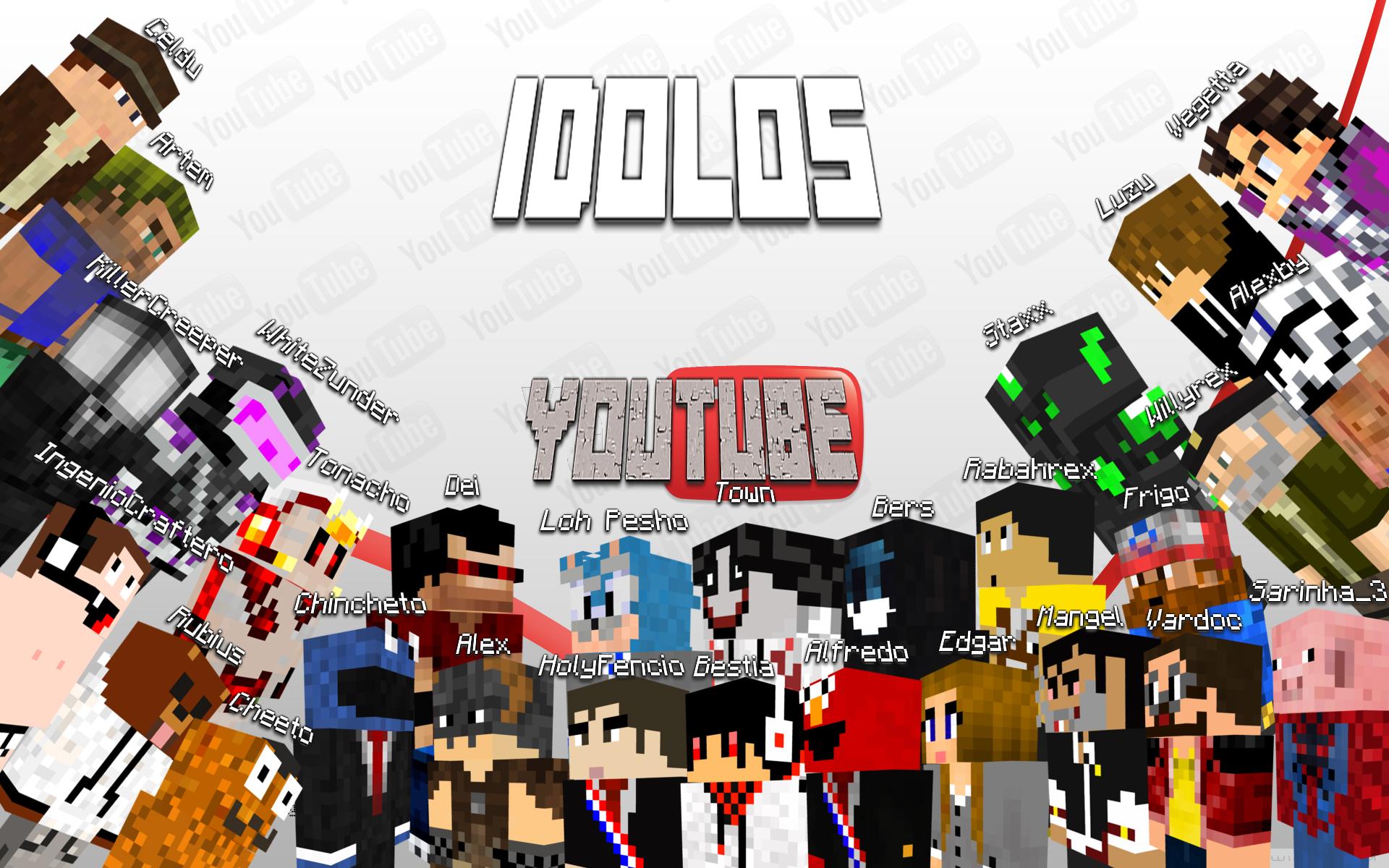 download the best minecraft youtubers by torowing fan art 1920x1200