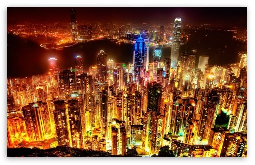 City Lights HD wallpaper for Standard 43 54 Fullscreen UXGA XGA SVGA 510x330