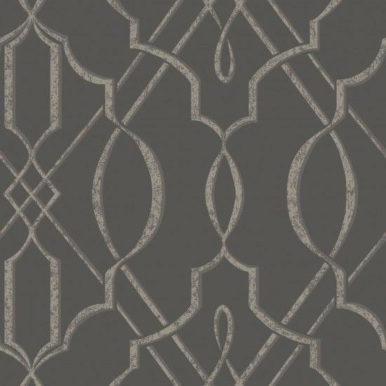 Arabesque Design Wallpaper Gray Sample   Contemporary   Wallpaper 550x550