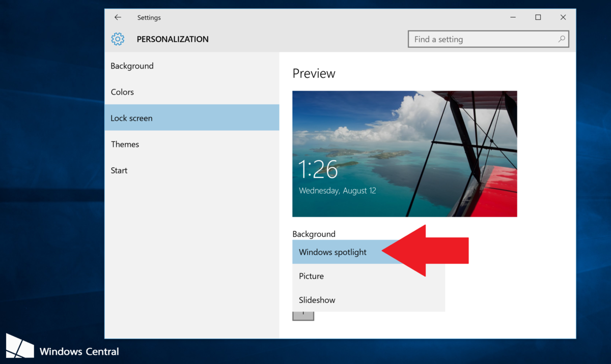 How to enable Windows spotlight in Windows 10 to keep your lock screen 1200x716