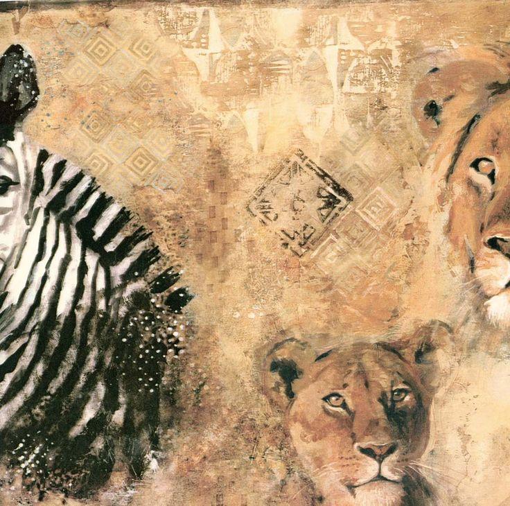 papermywallscomzebra lion wild kingdom wallpaper border fg35561b 736x730