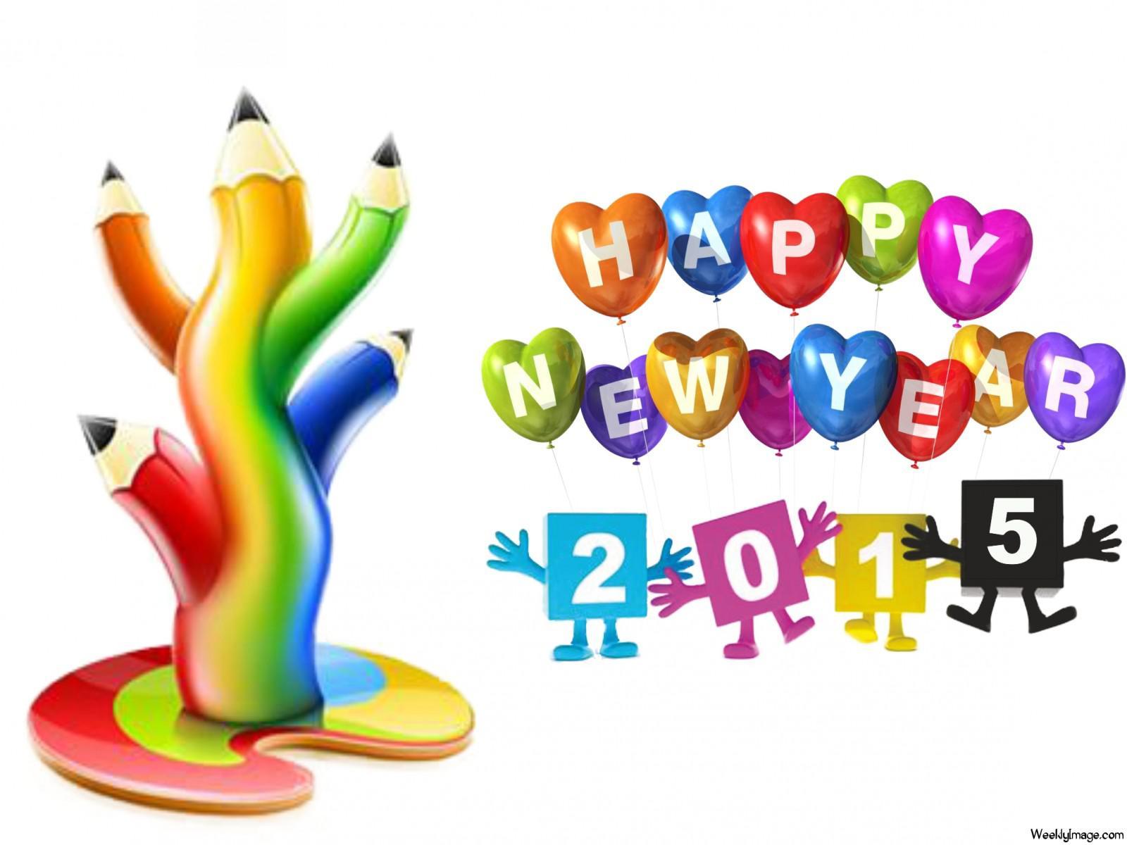 HD Happy New Year 2015 Cartoon Wallpaper Best Topics   Clipartsco 1600x1200