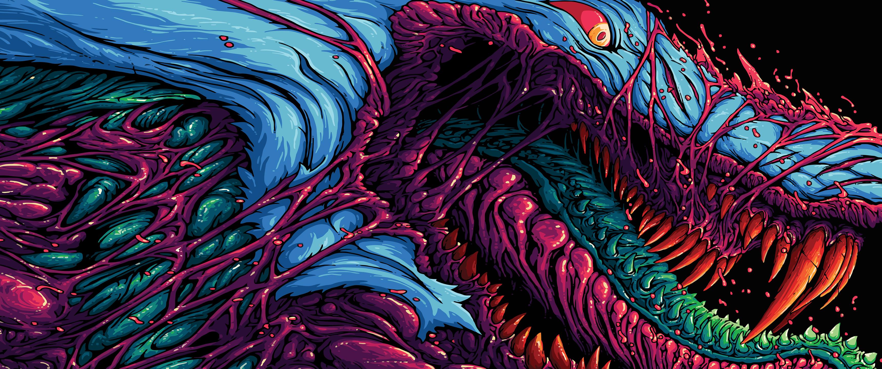 Hyper Beast by Brock Hofer [3440x1440] [png] WidescreenWallpaper 3440x1440