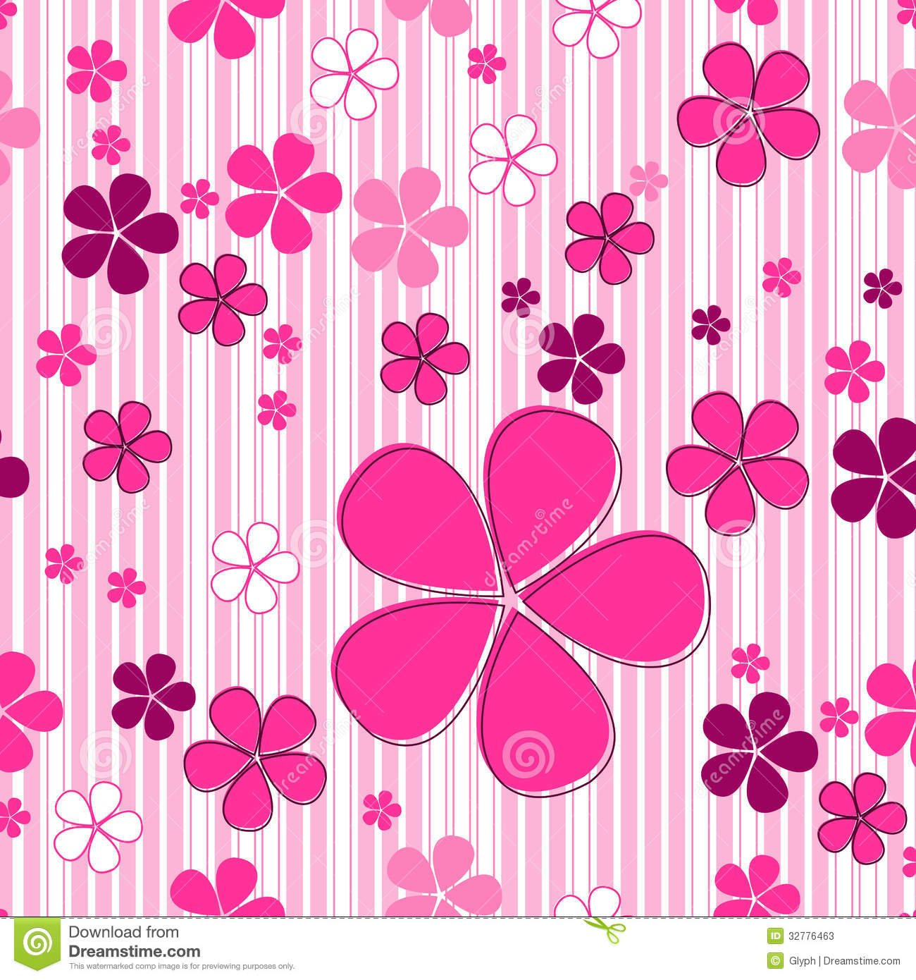 Cute Flower Background Wallpapersafari