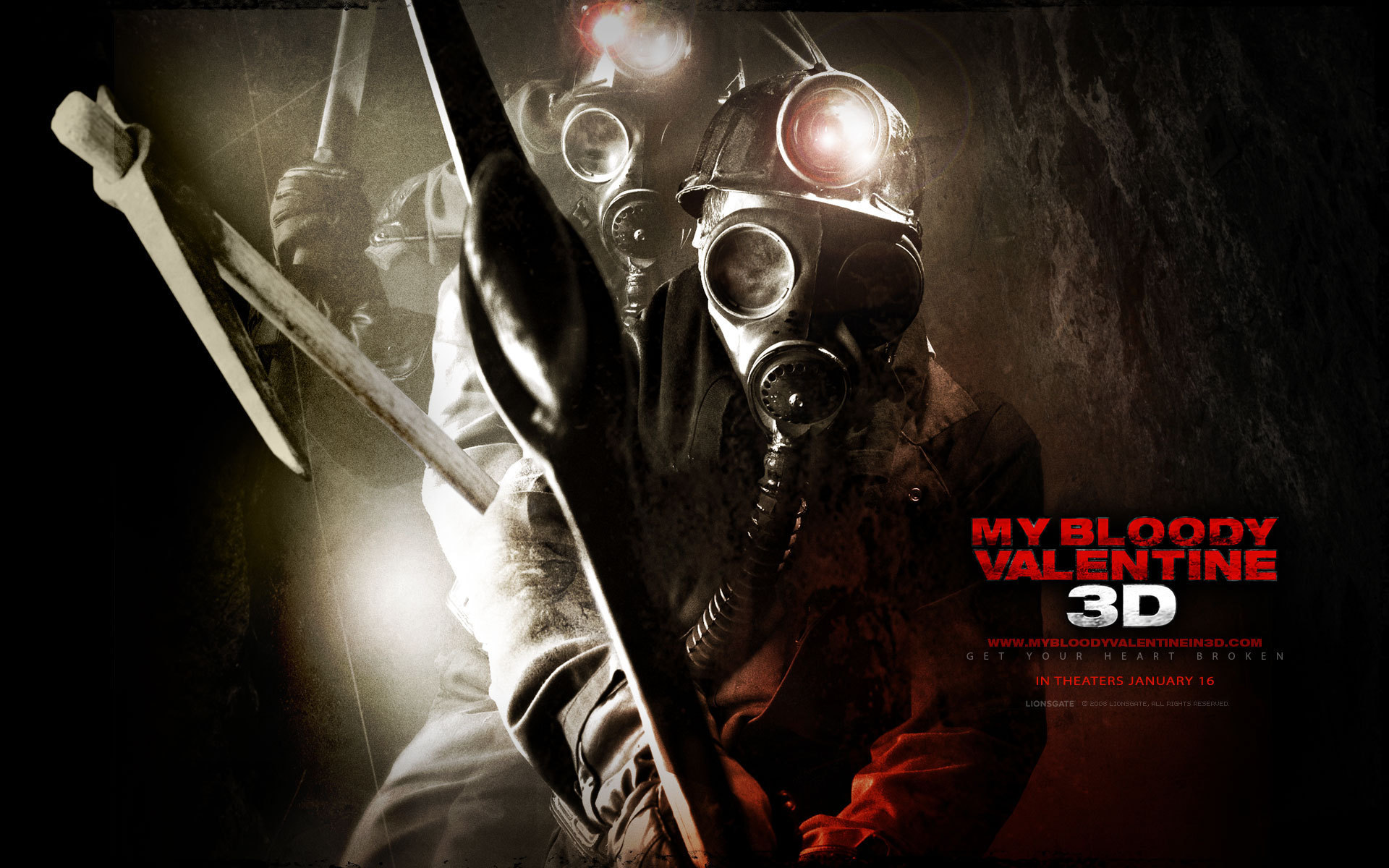 Horror Movies My Bloody Valentine 3D wallpapers 1920x1200