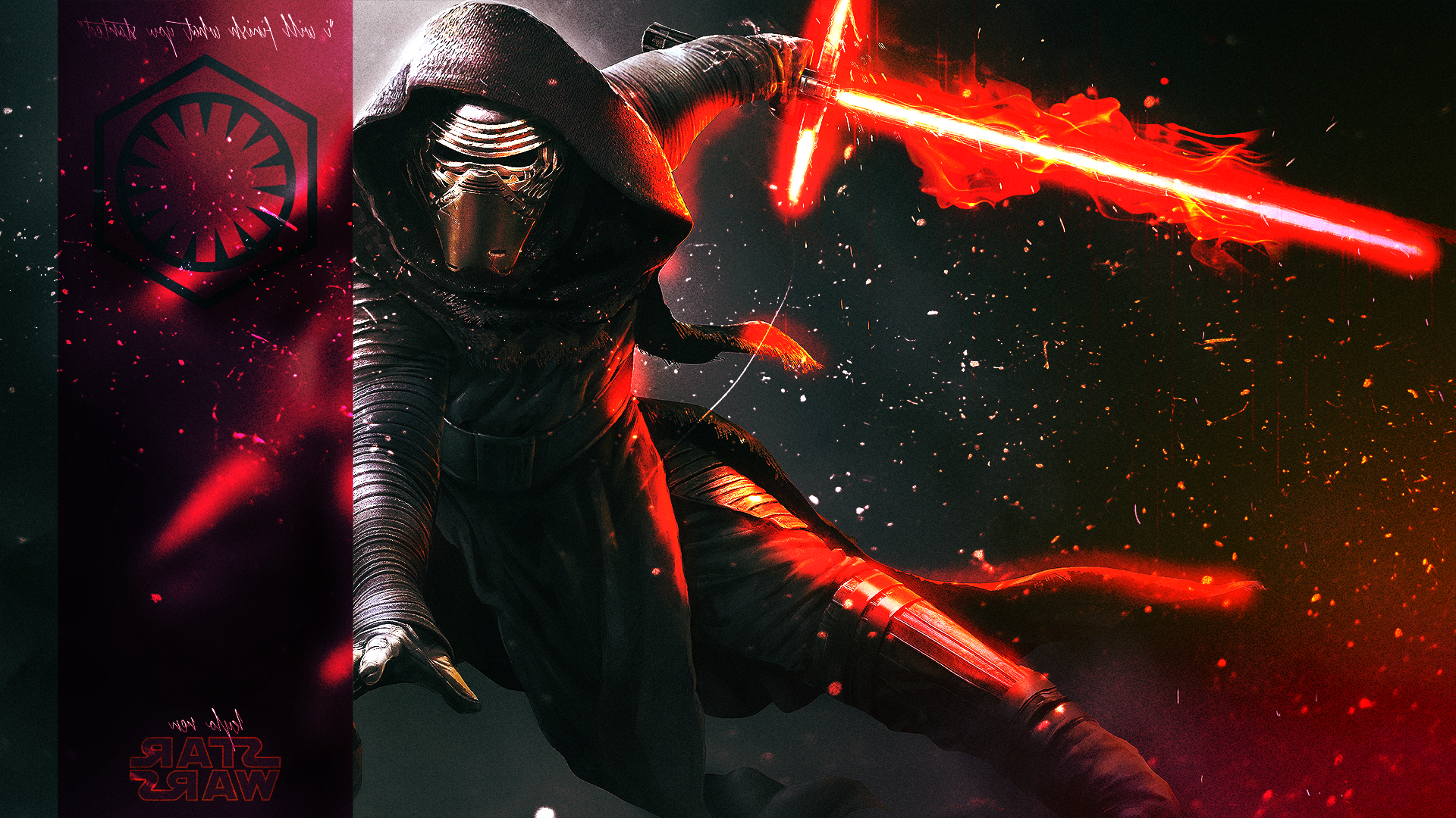 Tags 1920x1080 px Fan Art Kylo Ren Star Wars Episode VII   The Force 1920x1080