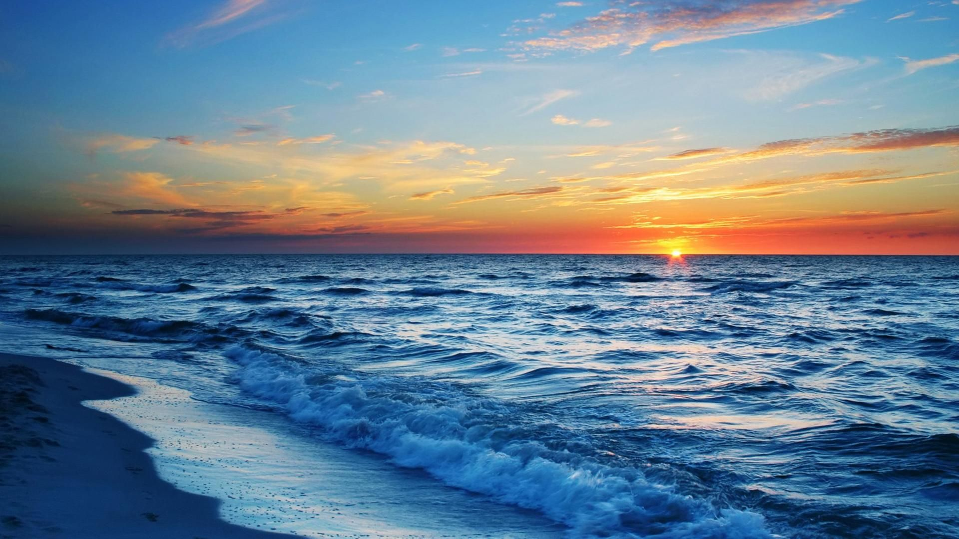 Ocean Sunset Wallpapers  Whatever Ocean 1920x1080