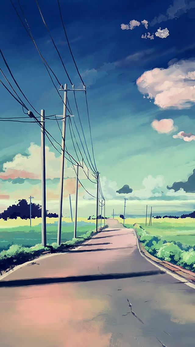 23++ Pastel Anime Scenery Iphone Wallpaper