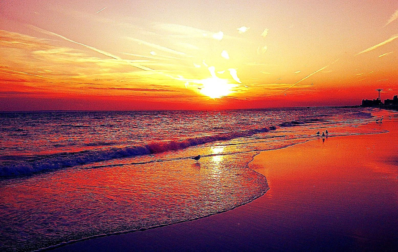 Sunset Beach HD Wallpapers Beach sunset Desktop Images Cool 1555x983