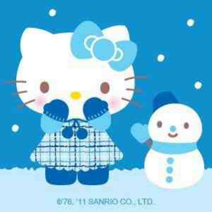 Winter Kitty Hello kitty Pinterest 720x720