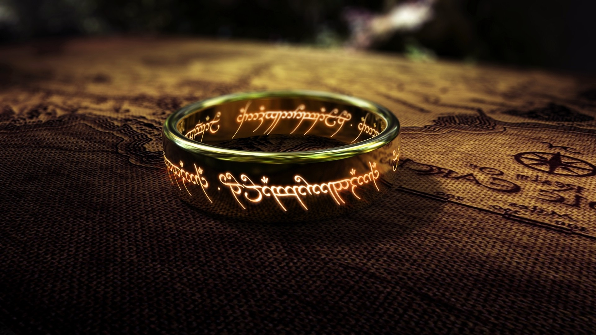 fantasy Art The Lord Of The Rings Map Rings Depth Of 1920x1080