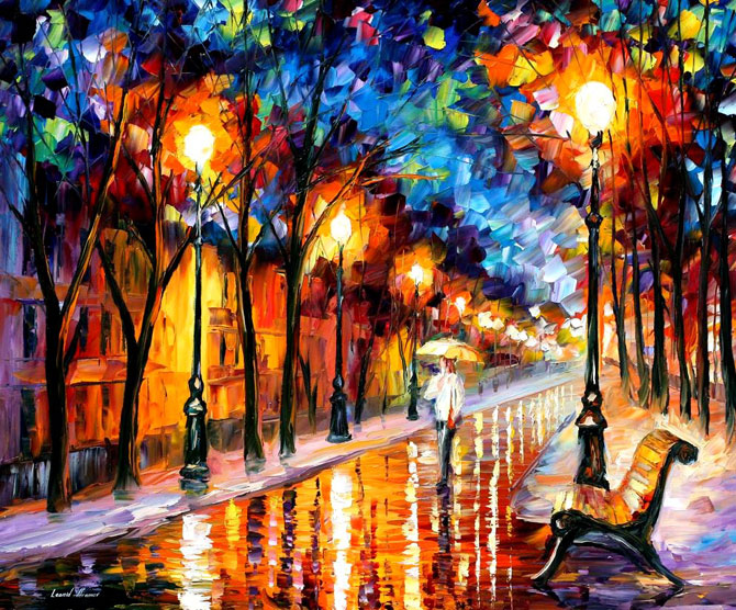 Pinturas al Oleo por Leonid Afremov   Taringa 670x556