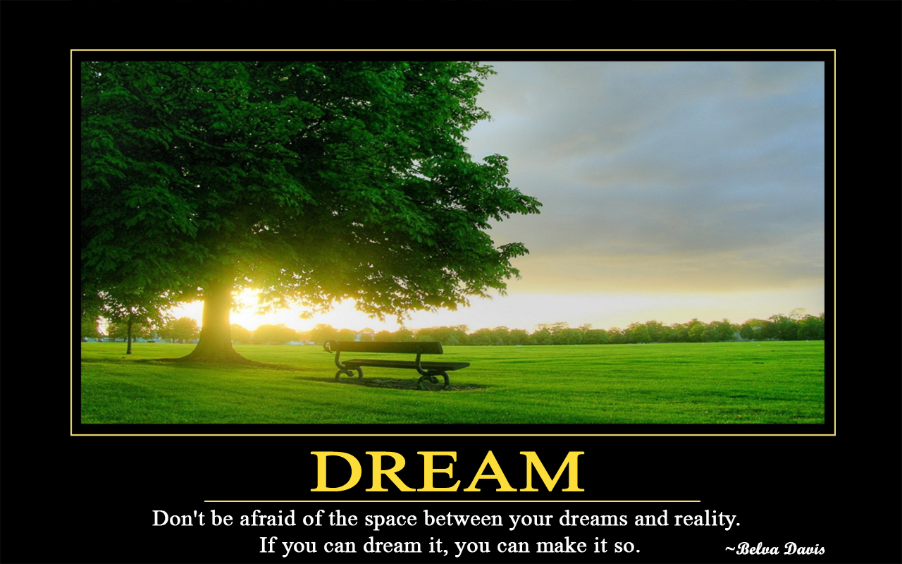 Wallpaper Dream And Believe 1280x800