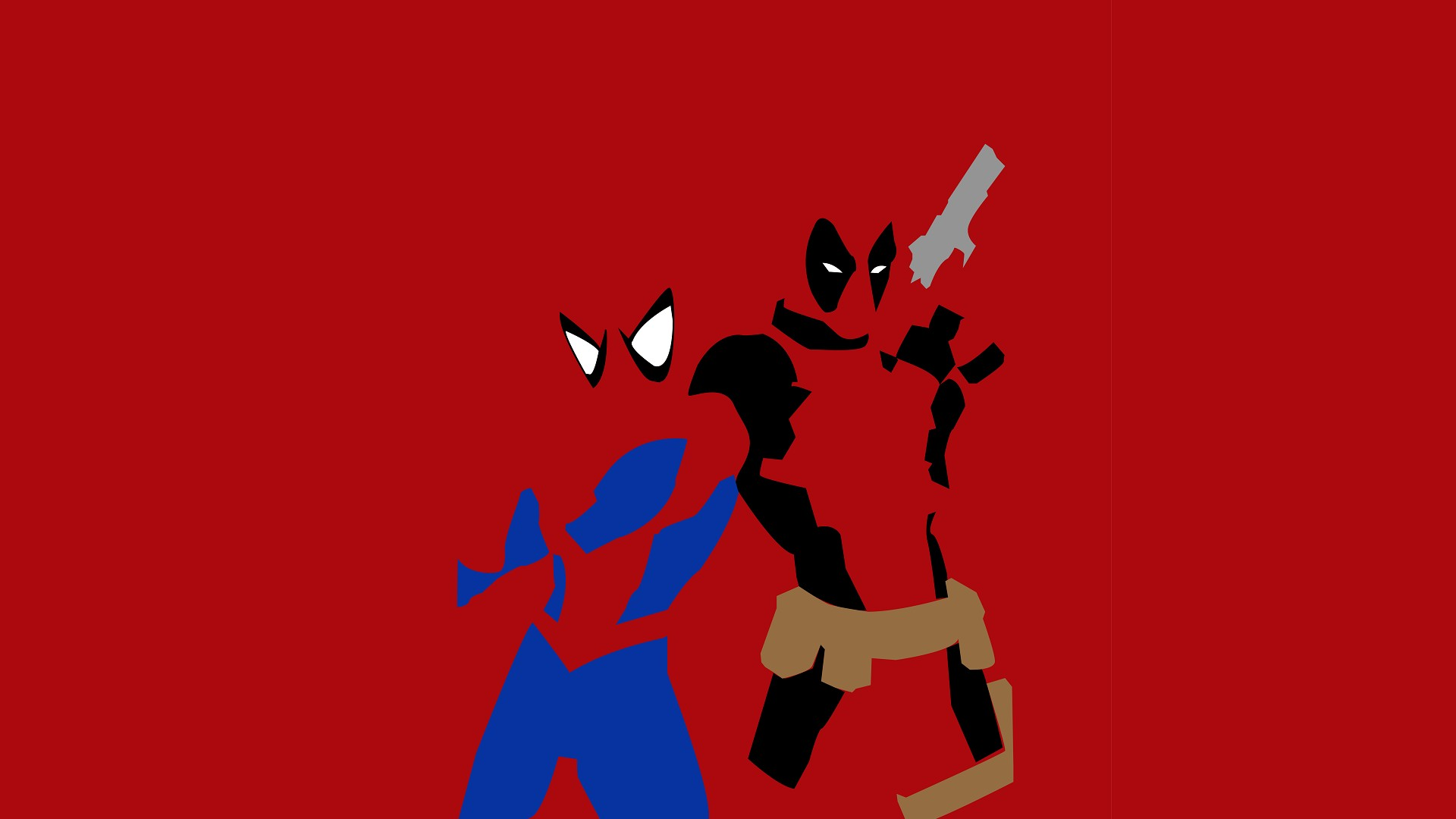 Deadpool and Spider Man Wallpapers 1920x1080