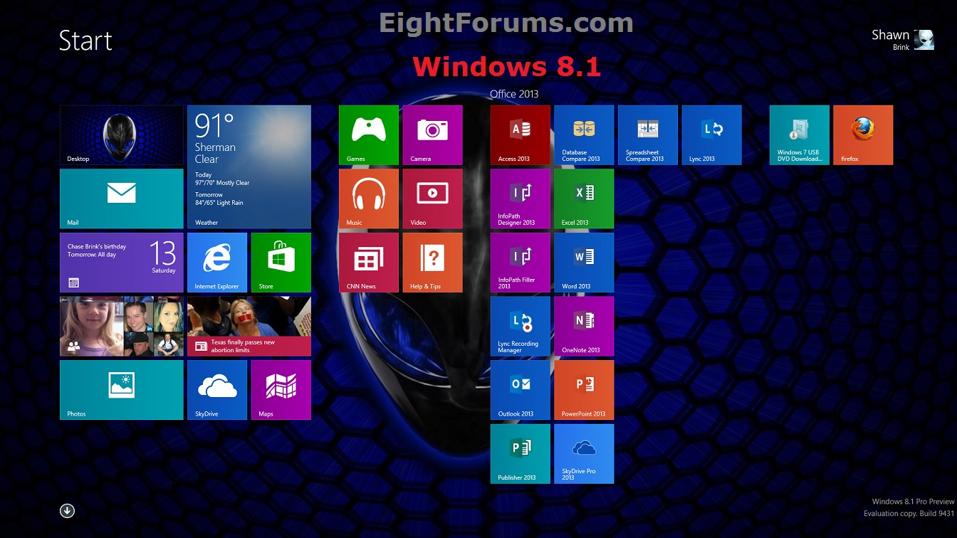 windows 8.1 background changer