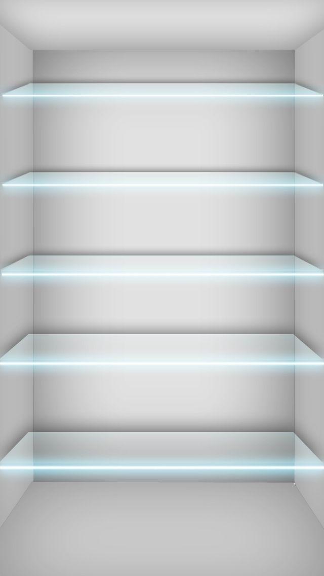Glass Shelves Wallpaper   iPhone Wallpapers iPhone 640x1136