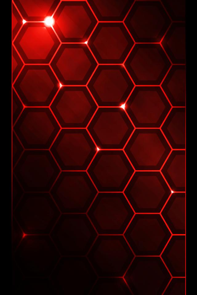 Red Hexagon Wallpaper Wallpapersafari