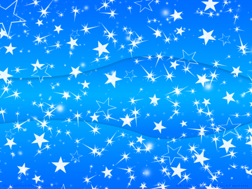 Blue Wallpaper With Stars