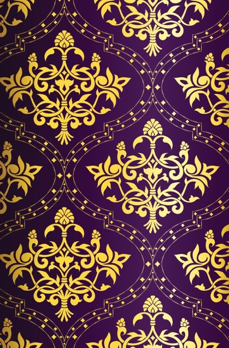 Purple Gold Pattern Background