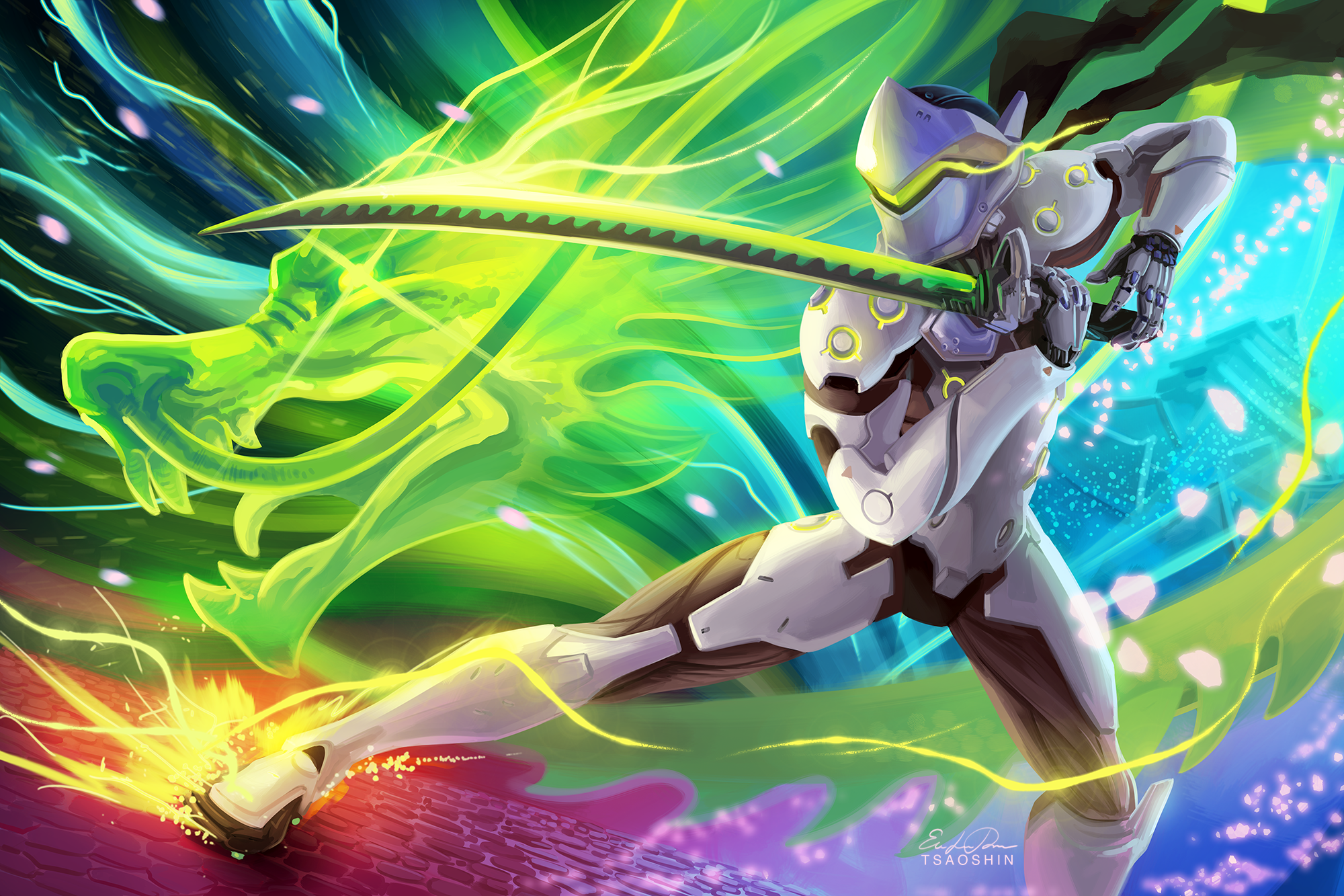 132 Genji Overwatch Fonds dcran HD Arrire Plans 2000x1333